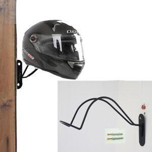 Iron Fireman Fire Fighter Helmet Wall Mount Display Rack Holder