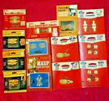13 Vantag Solid Brass Hasp  ,HINGES ,CATCH in packaging.   Models