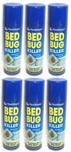 6 X PestShield Bed Bug Spray Kills Bed Bugs Fleas Ticks Lice & Mites