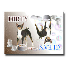BASENJI Clean Dirty DISHWASHER MAGNET No 2 New Dog
