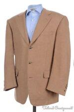 SAMUELSOHN Beige Brown Herringbone CAMELHAIR Tweed Blazer Sport Coat - 42 R