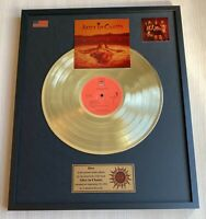 ALICE IN CHAINS DIRT 1992 GOLD METALIZED VINYL RECORD IN FRAME UNDER GLASS