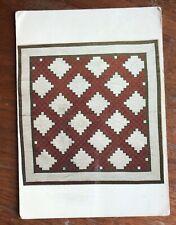 Quilt / Quilting Chrome Postcard Yakima Washington Irish Chain Written Unposted