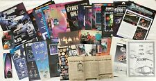 Star Trek TNG News Article Ads Photos Book Mark Room Sign Conferece Collectibles