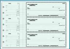 3 On A Page Business Checks With Side Stub 5 Colors With Free Logo 250 Ct New
