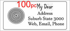 100 Personalised return address label custom mailing sticker 56x25mm henna