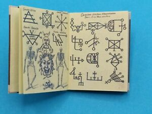 1:12 Scale Book,Compendium Of Demonology and Magic 1775 Crafted by Ken Blythe