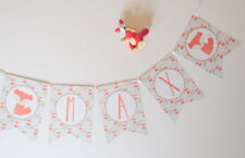 Woodland Animals Bunting. Nursery Decor, Baby Shower, Christening, Party Decor