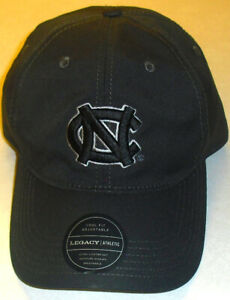 North Carolina Tar Heels University Mens Black color Adjustable Strapback hat