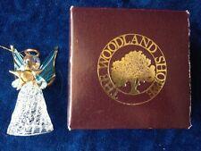 Glass Angel Figurine Crystal Angel Ornament Vintage Woodland Shoppe Angel Nib