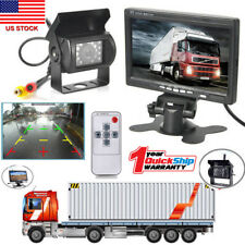 "7"" Tft-Lcd Rear View Monitors +Reverse Backup Camera Kit Night Vision f Rv Truck"
