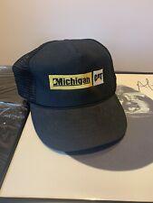 Vintage Michigan Caterpillar CAT Patch Mesh Snapback Hat Cap 80s