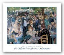 Le Moulin de La Galette a Montmartre Pierre Auguste Renoir Art Print 27x20