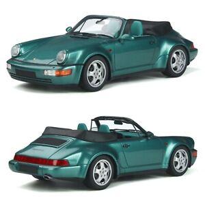 1/18 GT Spirit Porsche 911 (964) Cabriolet Turbo Look Wimbledon Green Neuf Boite