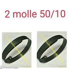 Due Molle per serranda in acciaio armonico piegato e forato , misura 50/10