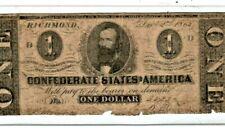 """$1 """"Confederate"""" 1800'S $1 (Confederate) 1800'S """"Autograph""""S 34; $1 1800'S Rare"""
