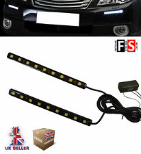 DRL LED DAYTIME RUNNING LIGHTS PAIR 9 LED LAMPS WATERPROOF  VXL2