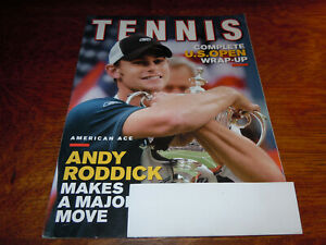 "VINTAGE OCTOBER 2003 "" TENNIS "" MAGAZINE - ANDY RODDICK COVER"