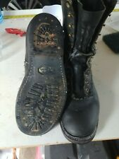 WHITE'S Black Leather Lace-Up Smoke jumper Boots  Men 11D