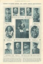 1919 ANTIQUE PRINT- HOLDERS OF BRITISH BATONS-OUR ARMY'S TWELVE FIELD MARSHALS