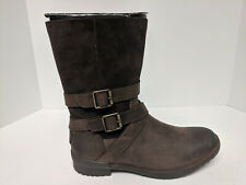 UGG Lorna Winter Boots, Brown Leather, Womens 8 M