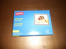 New Staples Photo Plus Paper 60 Sheet Pack 4 X 6 72 Pound