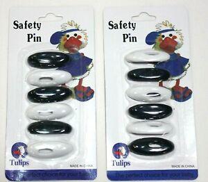 Women Two x (6-Pack) Hijab White & Black Pins- Islamic Scarf Hijab Safety Pins