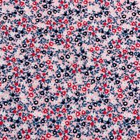 "Fabric Joann Quilters Showcase 1 Yard X 43"" Floral Teal Pink Navy Cotton #2U64"