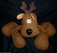 "16"" VINTAGE HALLMARK BIG RODNEY REINDEER CHRISTMAS STUFFED ANIMAL PLUSH TOY TAN"
