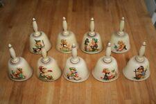 Hummel Bells Lot 1978, 1979, 1980, 1981, 1982, 1984, 1985, 1986, and 1987