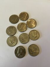 Lot of 10 Kennedy Half Dollars mixed dates 1971 1973 1976 1980 1986 1998 2000