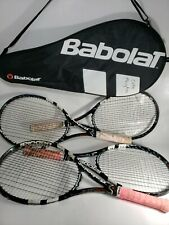 Lot of 4 Babolat Pure Drive Lite 4 1/4 Racquets and case