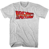 Back to The Future Vintage Movie Logo Men's T Shirt B2F Time Travel Sci-Fi Merch