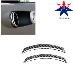 2Pcs For Nissan 350Z 2003-2009 Carbon Fiber Door Air Vent Outlet Cover Trim