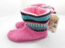 New Tom's Youth Girl's Nepal Boots  4  Pink Suede Sweater Knit