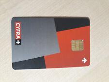 KARTA Cyfra+ wykorzystane kolekcjonerskie Smartcard Polen TV Sammler Karte