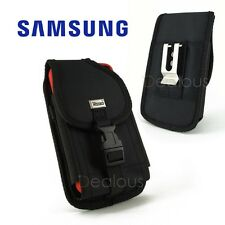 Samsung Galaxy Note 4/5 Rugged Nylon Holster Pouch Case w/Clip- FIT Bulky Case