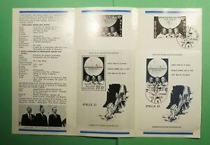 DR WHO 1969 BELGIUM FDC? SPACE MOON LANDING S/S PROGRAM CEREMONY FOLDER? f94111