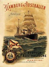 Tedesco australiano nave a vapore società Australia poster a2 279