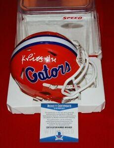 KYLE PITTS FLORIDA GATORS signed speed mini helmet Beckett COA 3