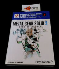 GUIDE BOOK METAL GEAR SOLID 2 SONS OF LIBERTY PS2 Konami Official guidebook JAP