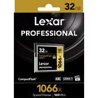 Lexar 32GB 64GB 128GB 256GB 1066x 160MB/s CF Compact Flash Memory Card UDMA7