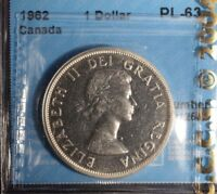1962 Canada Dollar  -  Graded - CCCS PL-63
