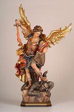 """Statua San Michele cm. 40 - In legno- ST. MICHAEL 15,74"""""""