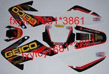 3M Honda CRF70 Decals Emblems Stickers Graphics CRF 70 pit dirt Bikes #6 Geico