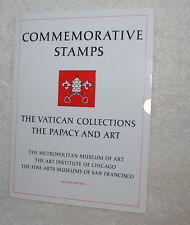 The Vatican postage stamp sheet, The Papacy and Art, with folder, postcards