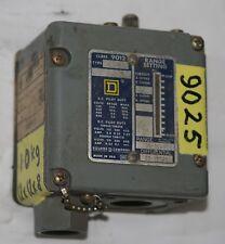 SQUARE D  9012 ACW-2  Ind. Pressure Switch Range 10-300 PSI Diff'l 25-125 PSI
