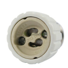 5x Bright E27 to GU10 New LED Light Bulb Screw Base Adapter Converter New