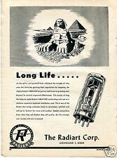 1948 The Radiart Corp Radio Vibrator Sphinx and Pyramid Print Ad