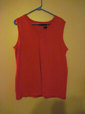 Women's XL Sleeveless pull over RED by Yarns & Stitches